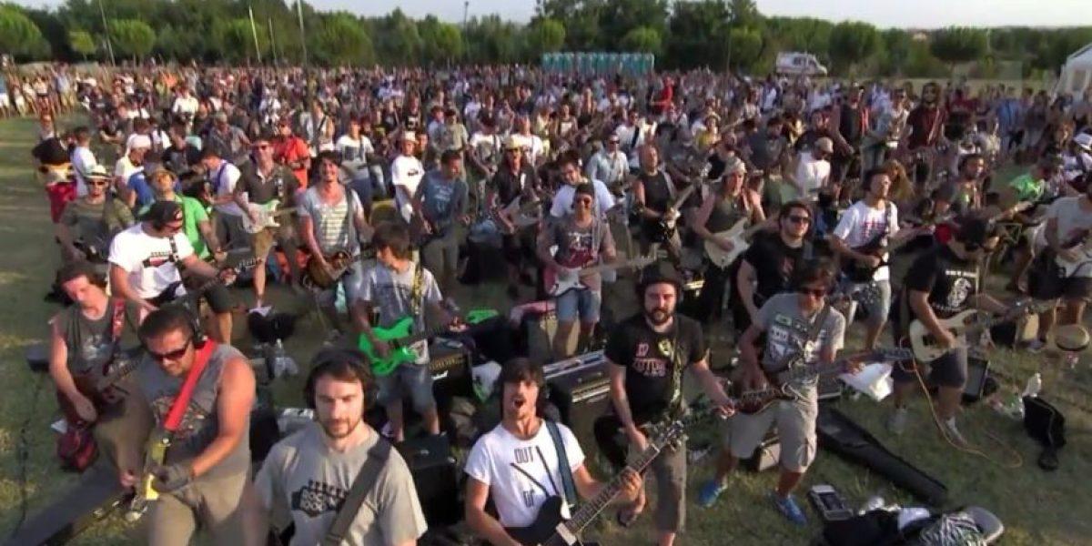 """Video. Mil italianos interpretan """"Learn to Fly"""", de Foo Fighters"""