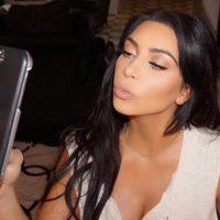 La socialité creo dos montajes para comparar su rostro. Foto:Instagram/KimKardashian
