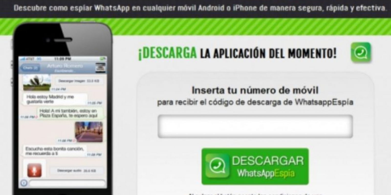 2- WhatsApp Espía. Foto:Twitter