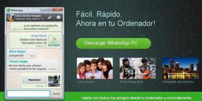 4- WhatsApp para PC. Foto:Twitter
