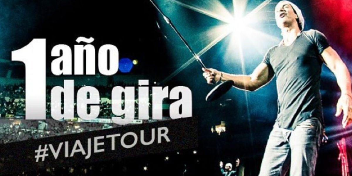 Video: Arjona celebra el aniversario de su gira