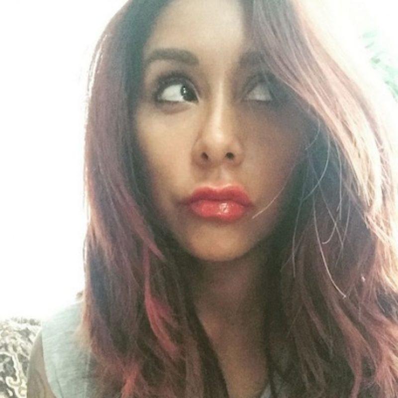 Snooki copió la técnica de la menor de las Jenner. Foto:Instagram/snookinic