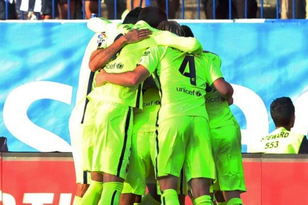 El cuadro azulgrana alcanzó los tres puntos que le permitieron asegurarse el cetro de la temporada. Foto:AFP