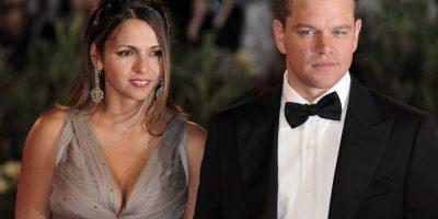 Matt Damon y Luciana Bozán Barroso Foto:Agencias