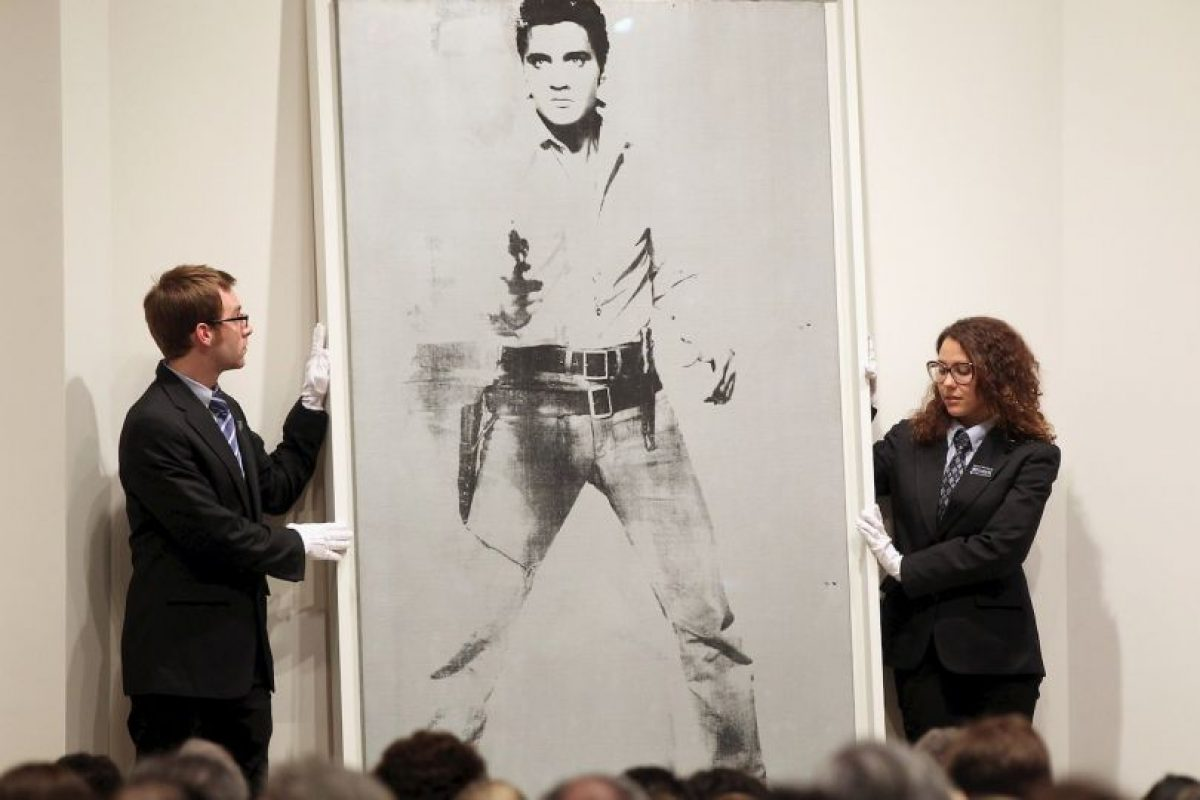 Retrato de Elvis Presley en blanco y negro. Foto:Getty Images