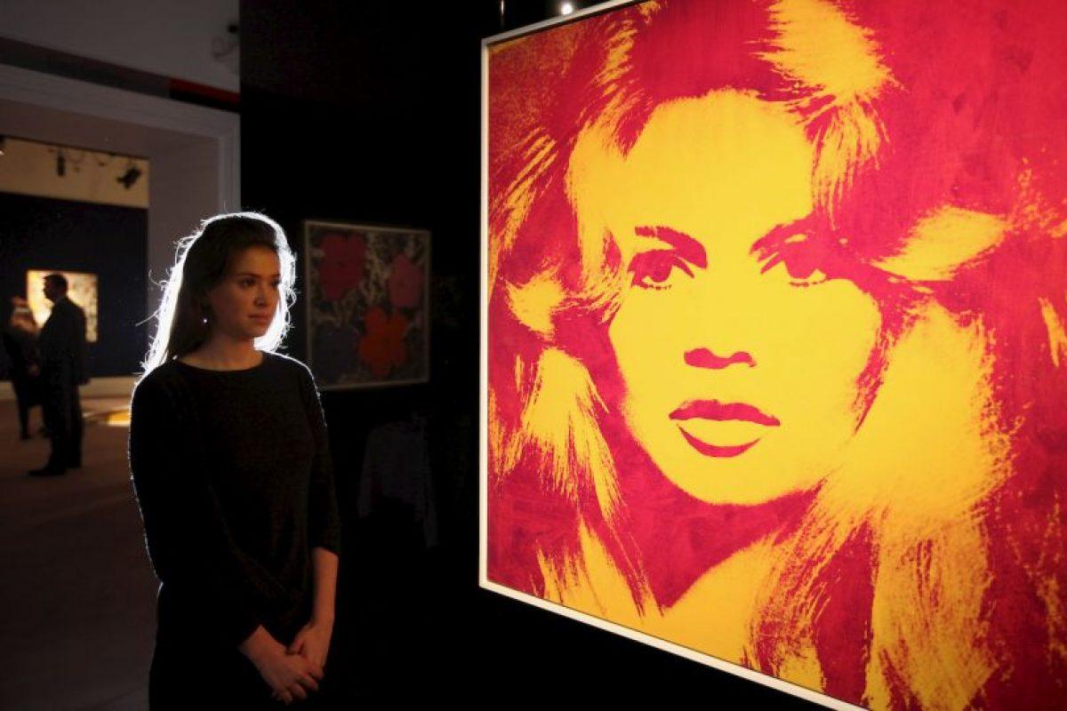 Retrato de Brigitte Bardot pintado en 1974. Foto:Getty Images