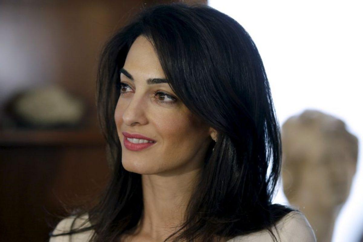 Amal Clooney, es una de las abogadas que defienden a Saif Gadafi y al y el jefe de inteligencia Abdullah al-Senussi Foto:Getty Images