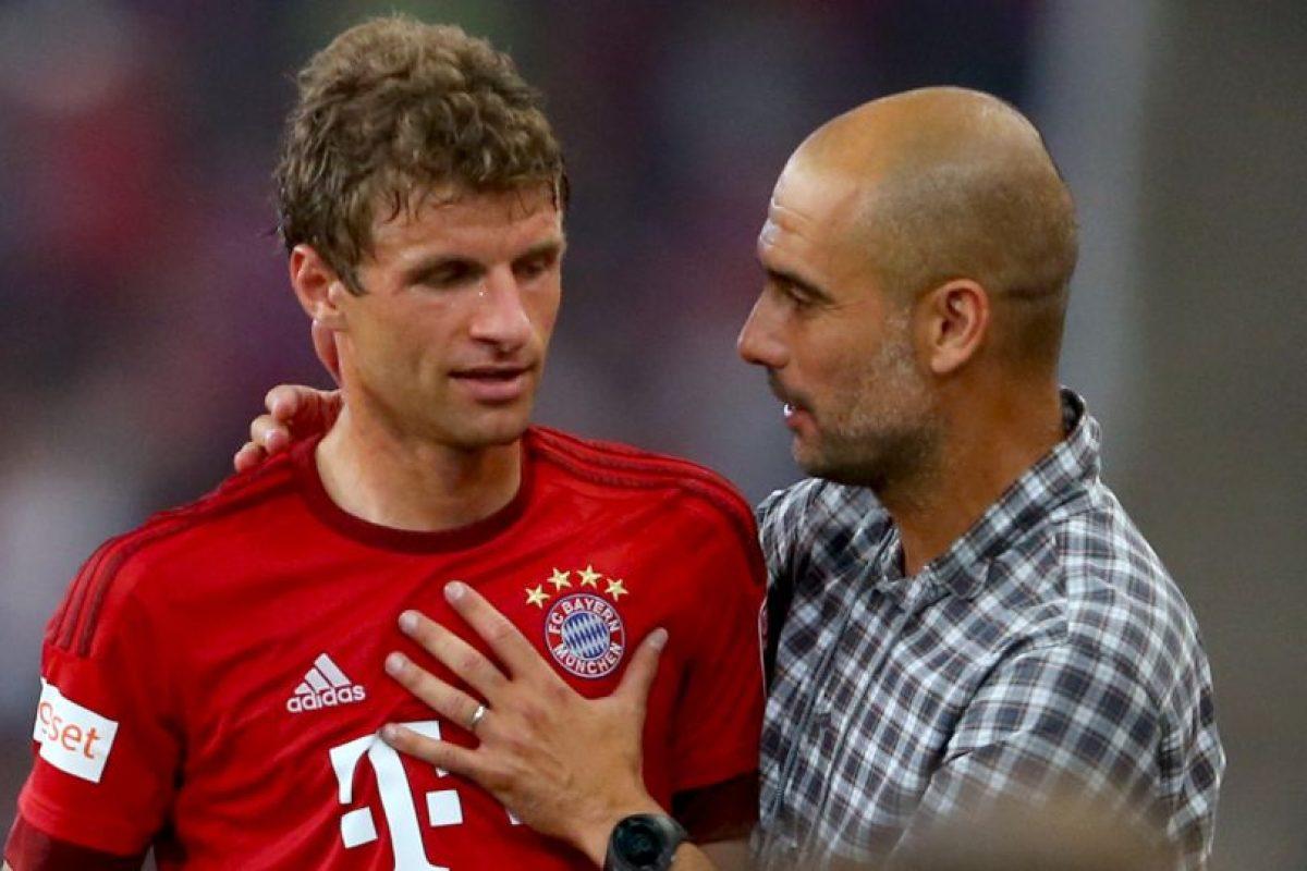 2. Pep Guardiola vs. Thomas Muller. Foto:Getty Images
