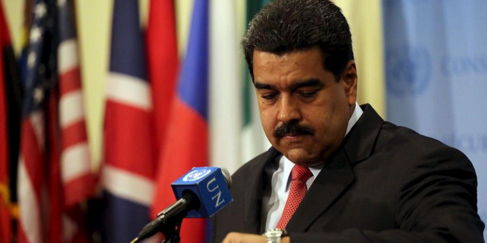 """""""Fíjense ustedes que el general Kelly hace cuatro meses vaticinó que julio era el mes de la implosión social en Venezuela"""", explicó Maduro… Foto:Getty Images"""
