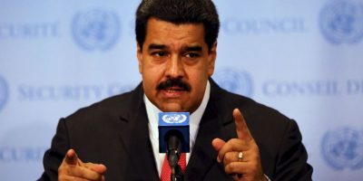 """""""Ustedes saben que un general del ejército no vaticina: ordena, actúa y la derecha maltrecha de Venezuela lo ejecuta"""". Foto:Getty Images"""