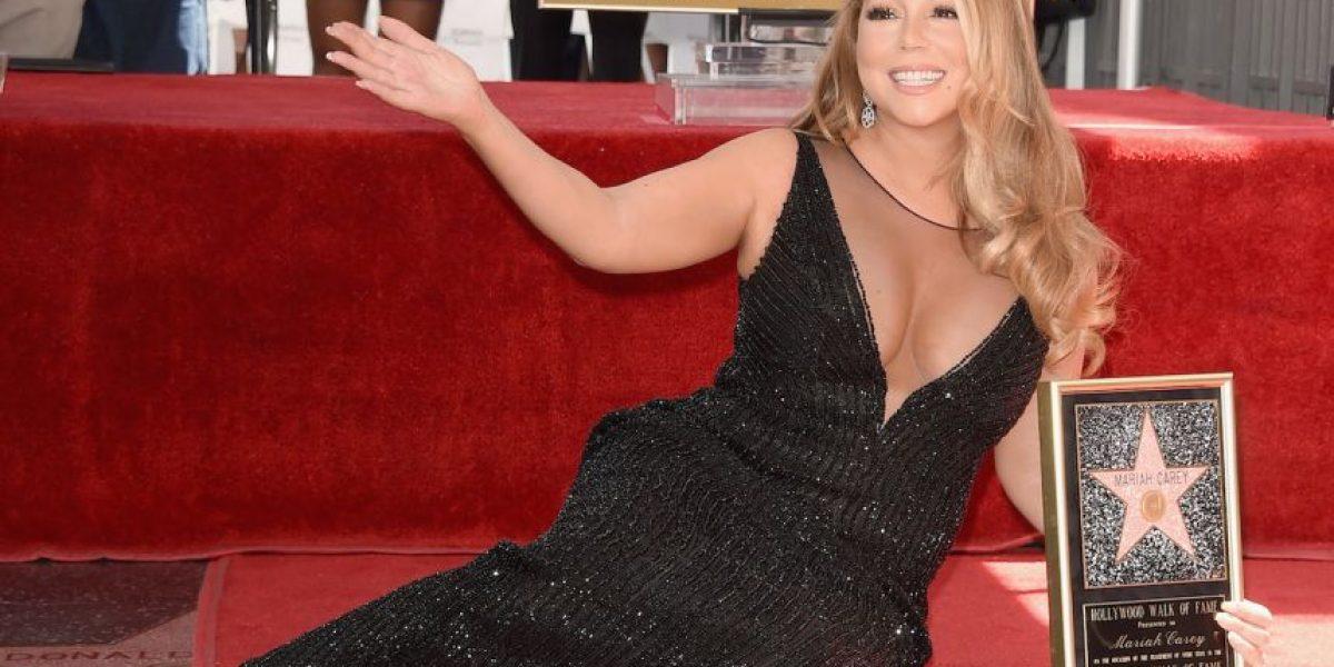 Mariah Carey recibe reconocimiento en Hollywood y su hijo le roba el show