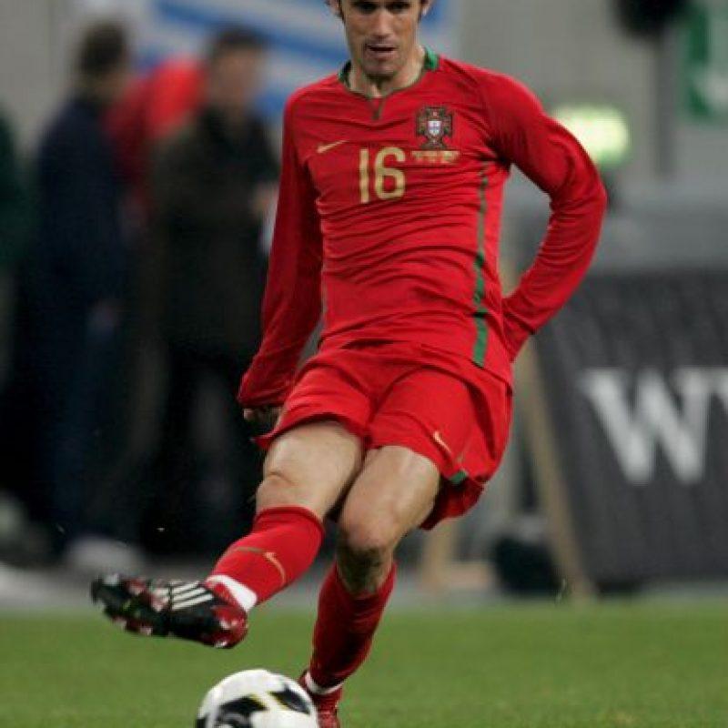En pleno festejo de gol con Portugal se lastimó la rodilla. Foto:Getty Images