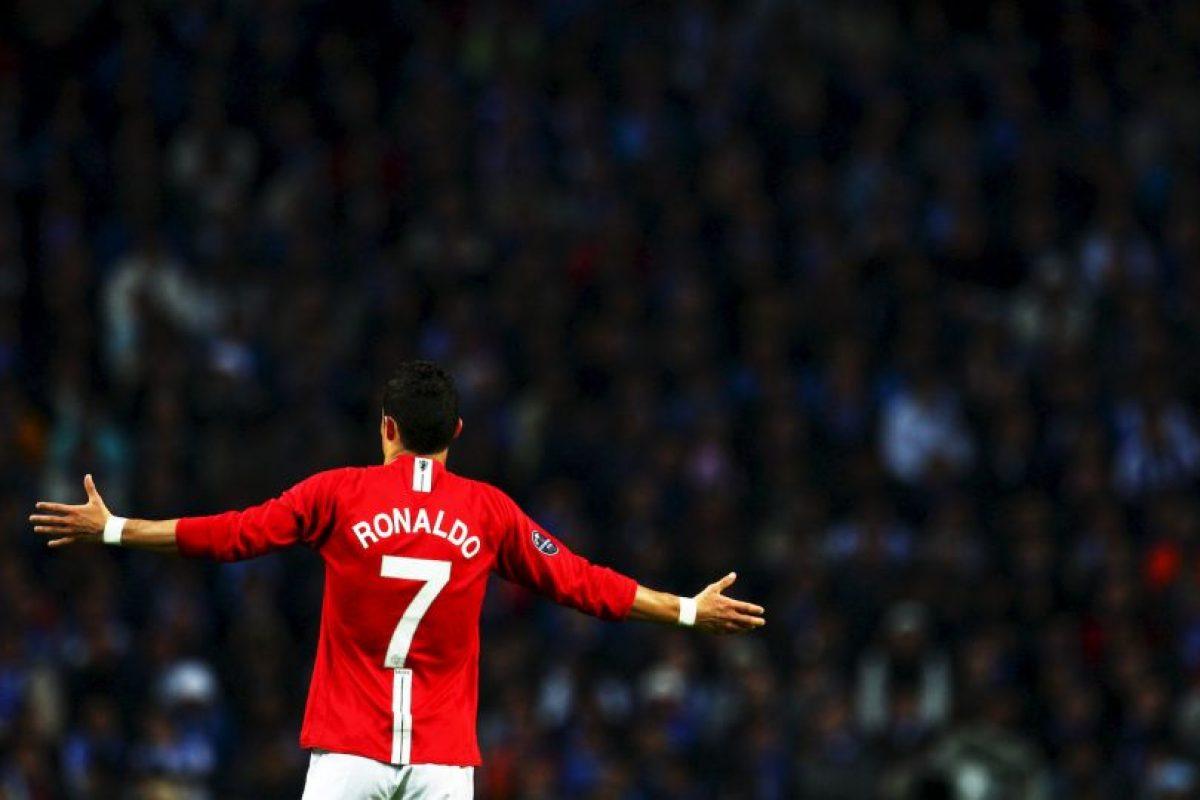 """Cristiano Ronaldo fue el último gran ídolo de Manchester United. """"Heredó"""" el 7 que le perteneció antes a David Beckham. Foto:Getty Images"""