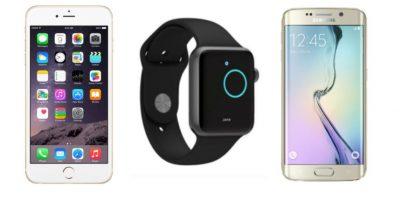 iPhone 6 Plus, Apple Watch y Samsung Galaxy S6 sometidos a una prueba de resistencia. Foto:Apple / Samsung