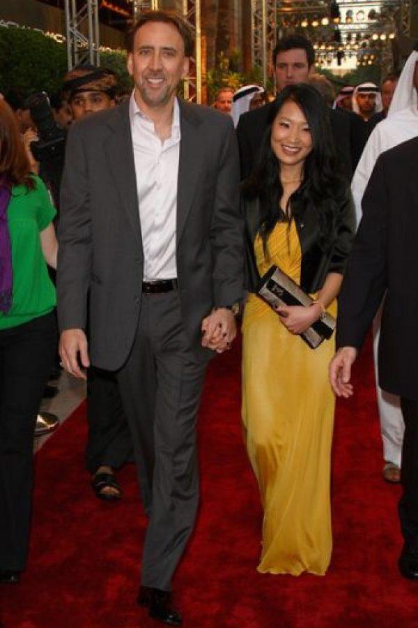 Nicolas Cage y Alice Kim Foto:Agencias