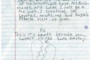 Está fue la carta que Kelley envió al presidente. Foto:Vía www.whitehouse.gov