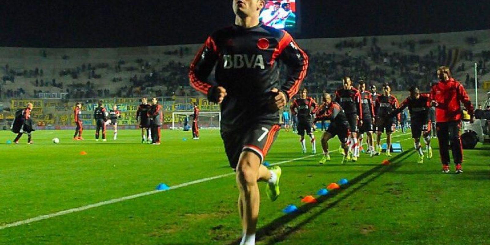 Fue delantero titular en el partido de ida que terminó con empate 0-0 Foto:Vía twitter.com/romorita11