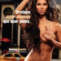 La boricua también colaboró con la campaña en contra de usar pieles de animales. Foto:PETA