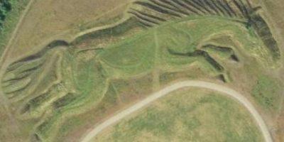 Este caballo gigante se ubica en el Reino Unido. Su origen es un misterio Foto:Google
