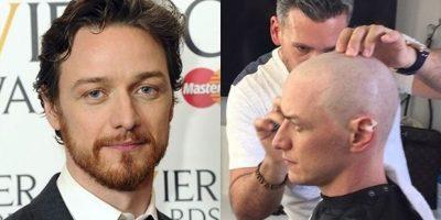 """James McAvoy se rapó para interpretar al """"Profesor Xavier"""" en la nueva cinta de """"X Men"""""""