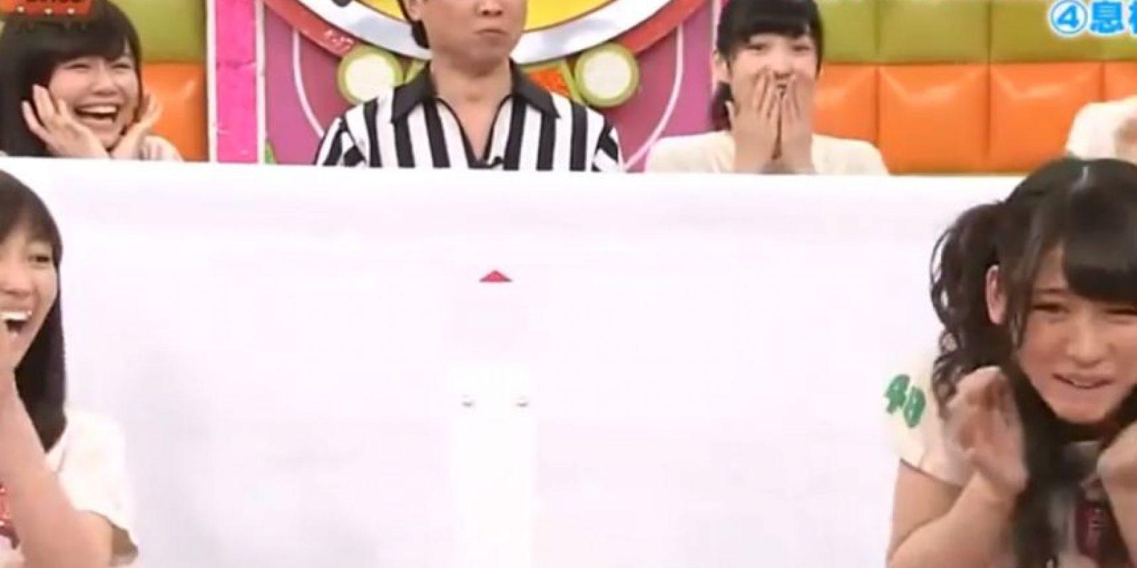 Esta es otra de las tantas extrañas pruebas que hacen parte de la televisión nipona y que espantan a los occidentales. Foto:vía Youtube/Tv Nippon