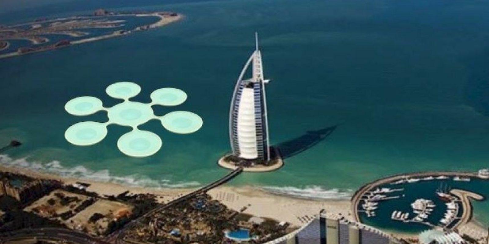 Se trata de un concepto único que permitiría tener partidos de tenis bajo el agua. Foto:Vía facebook.com/8+8ConceptStudio