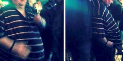 Este hombre fue acosado por su peso y por bailar en un concierto. Foto:vía Twitter