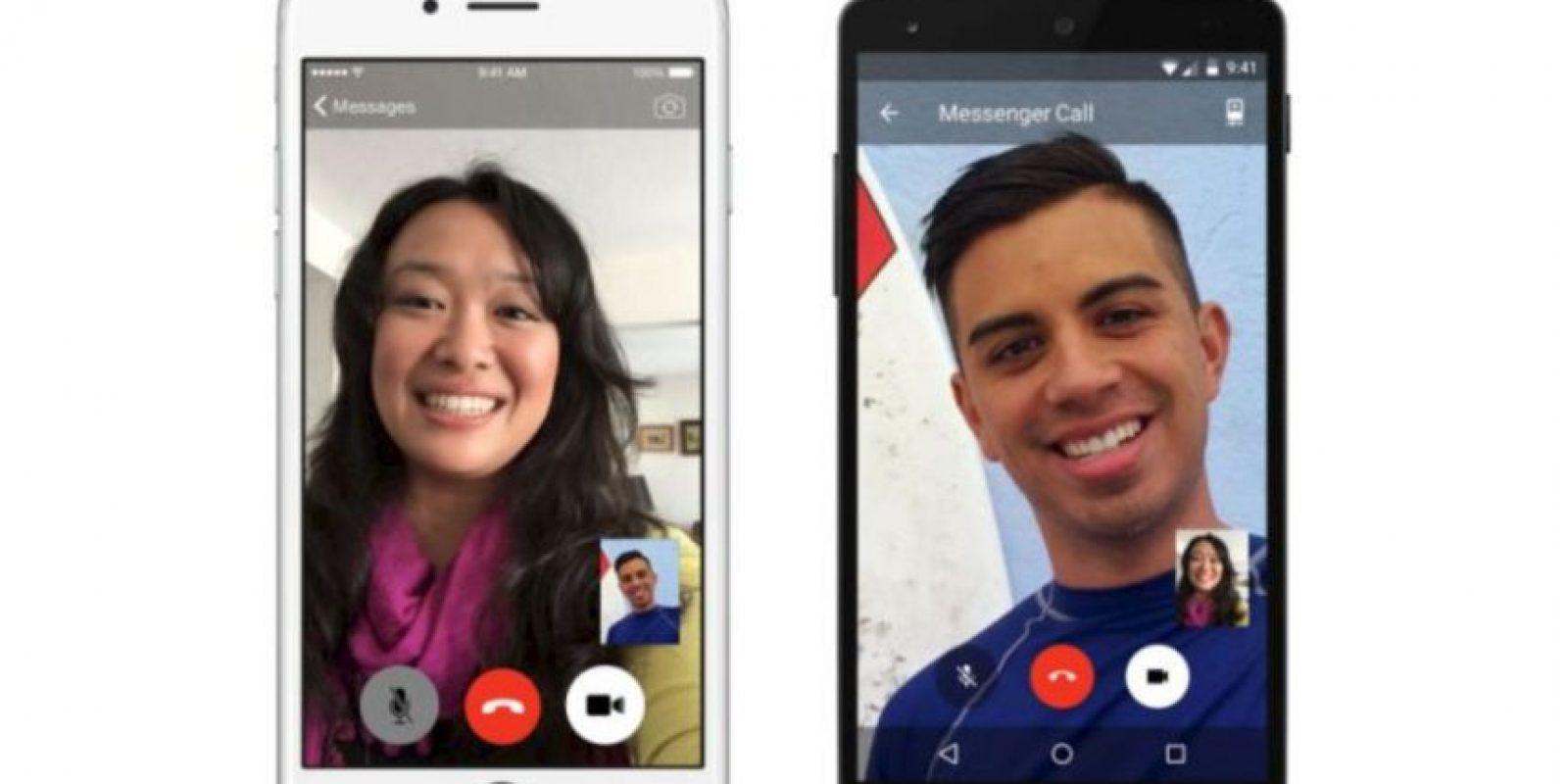 Videollamadas para móviles, disponibles solo para sistemas iOS y Android Foto:Facebook