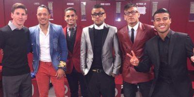 La mayoría de las imágenes fueron publicadas por Neymar, una de las figuras del equipo. Foto:Vía instagram.com/neymarjr