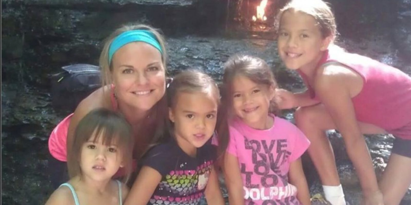 Elizabeth Diamond, era madre soltera de estas cuatro pequeñas. Foto:Vía youcaring.com
