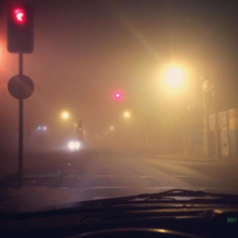 Un fenómeno metereológico producido por la humedad. Foto:vía Instagram