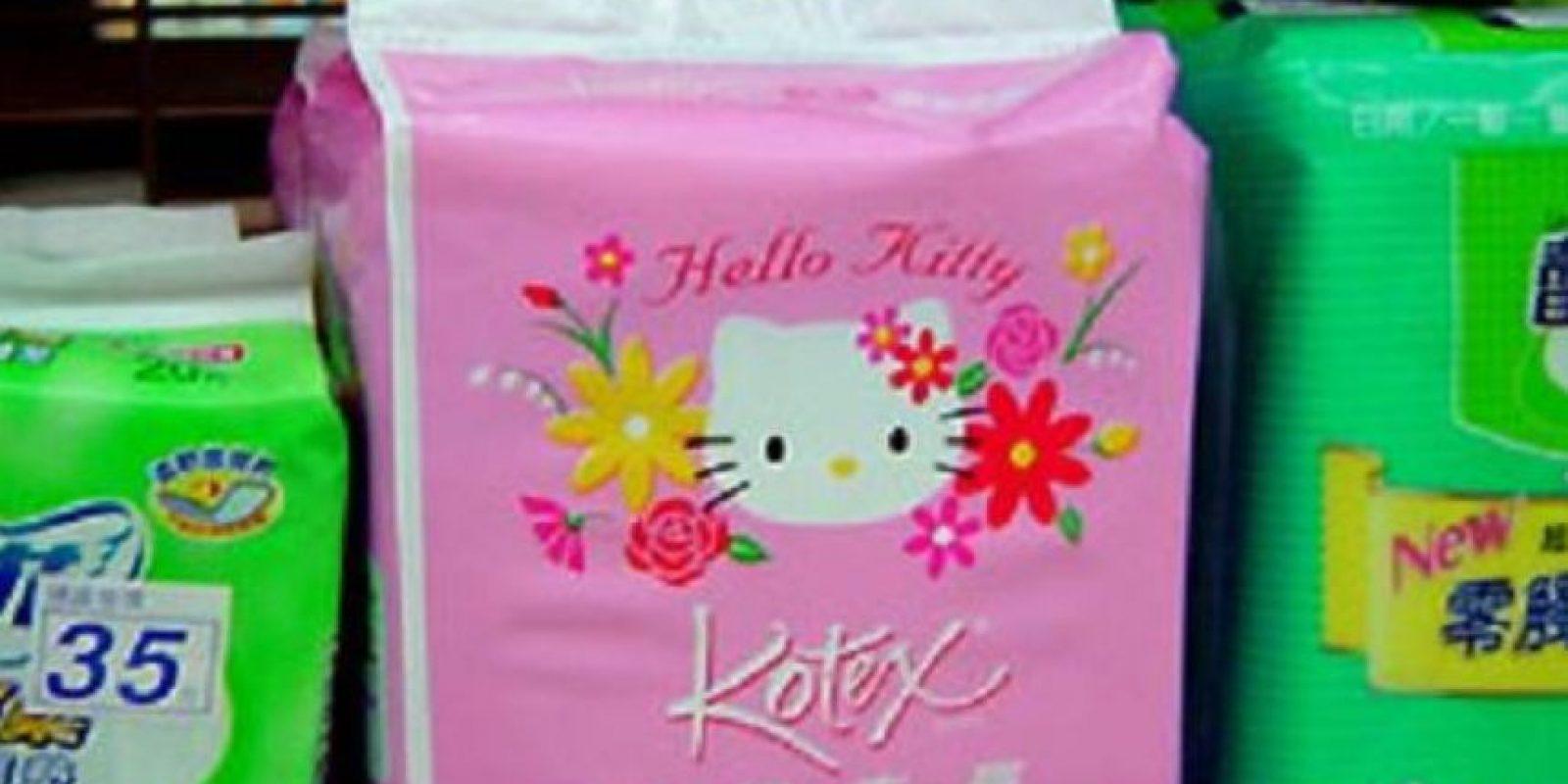 """Toallas sanitarias de """"Hello Kitty"""". Foto:vía Tumblr"""