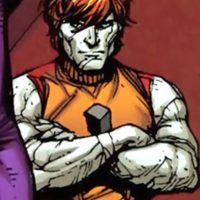 """""""Stone Boy"""" solo tiene una habilidad: convertirse en piedra y quedarse quieto. Petrificus Totalus. Foto:vía DC Cómics"""