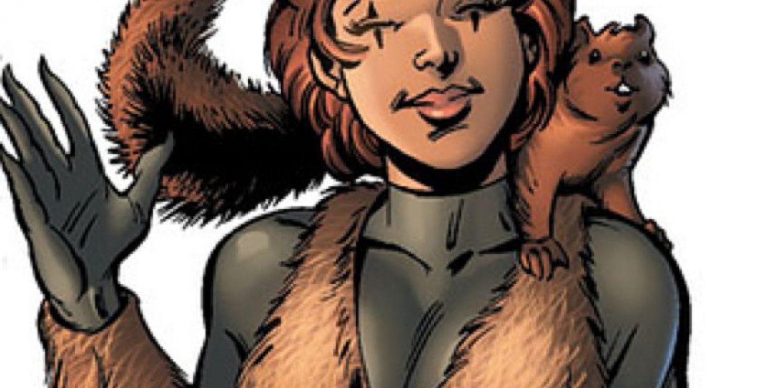 """La """"Chica Ardilla"""" tiene poderes de ardilla, grandes reflejos y se comunica con ellas. Foto:vía Marvel Cómics"""