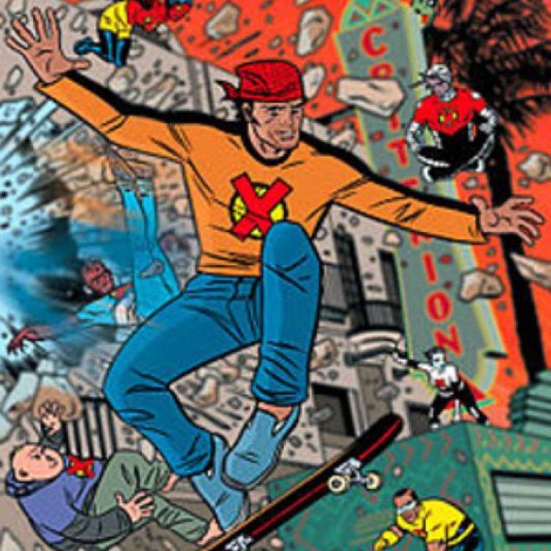 """""""El Guapo"""" parece apelativo de pandillero """"blanco y cool"""" de los años 80. Y sí. Era de Los Ángeles y tenía una relación simbiótica con su patineta. Foto:vía Marvel Cómics"""