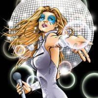 """""""Dazzler"""" convierte la música en luces. Se convirtió en cantante de disco. Foto:vía Marvel Cómics"""
