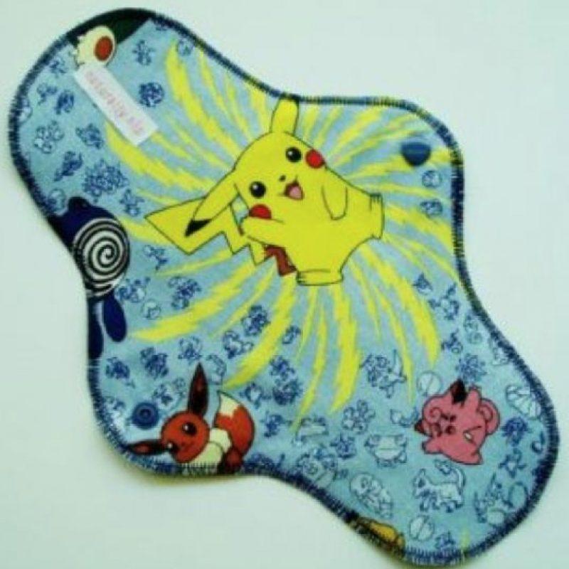 Esta toalla menstrual de Pokemon. Foto:vía Tumblr