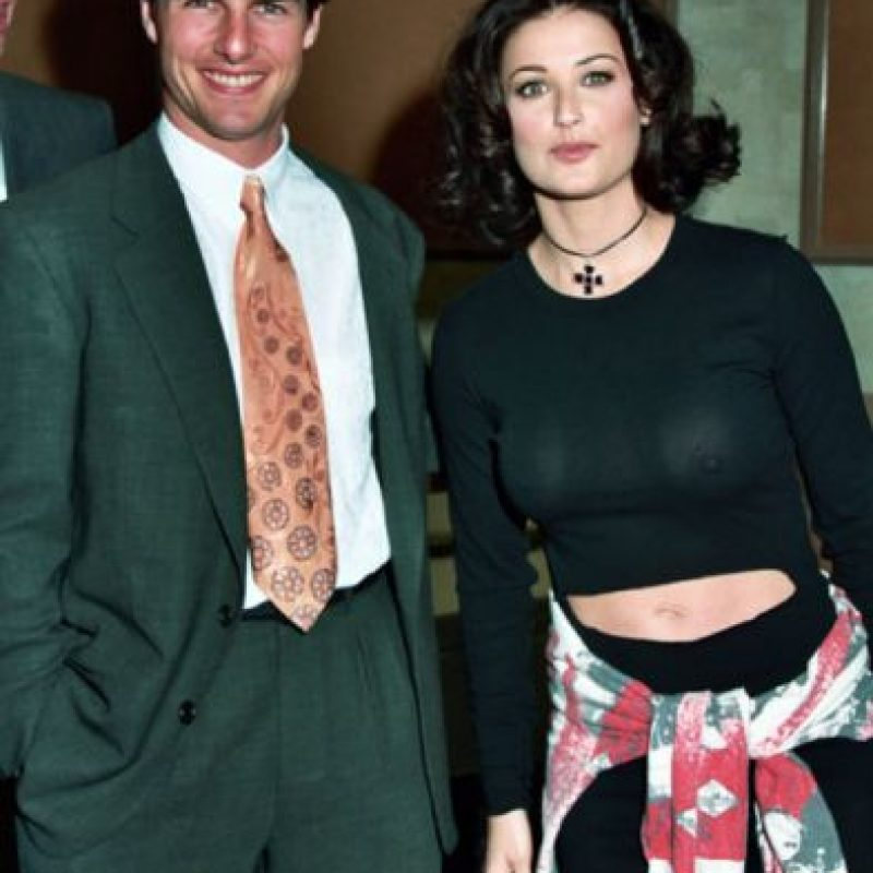 Demi Moore en una extraña foto con Tom Cruise. Foto: vía Getty Images