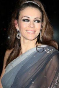 Elizabeth Hurley y su sari. Foto:vía Getty Images
