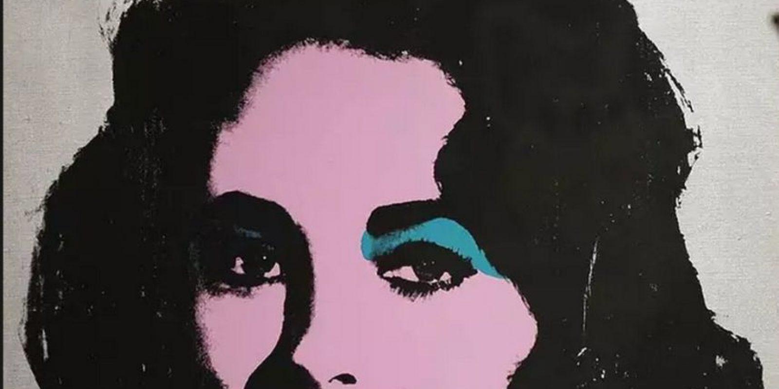 Serigrafía titulada 'Liz # 5', de la actriz de Hollywood Liz Taylor Foto:Getty Images