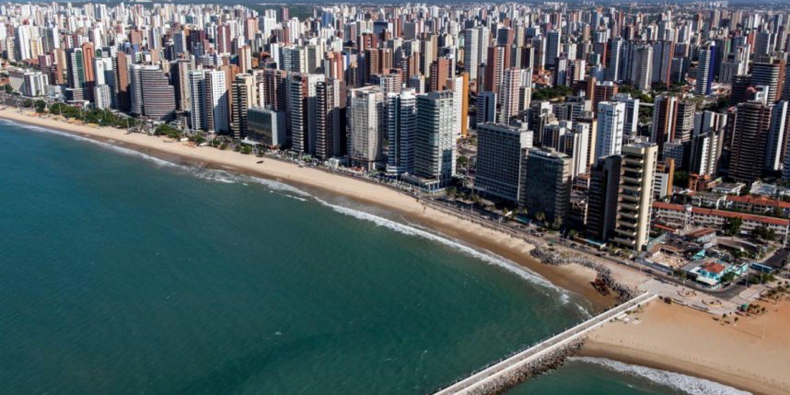 Otra ciudad de Brasil, Fortaleza, ocupa el octavo lugar con una tasa de 66.55 por ciento de homicidios por cada 100 mil habitantes. Foto:vía wikipedia.org