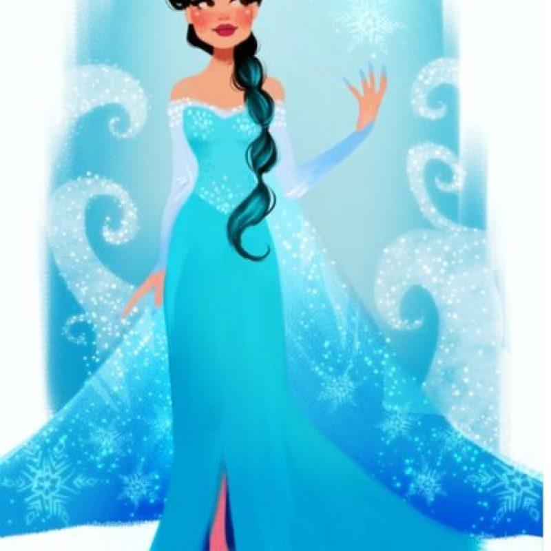 """Convertida en """"Elsa de Frozen"""" Foto:Vía dylanbonner.tumblr.com/"""