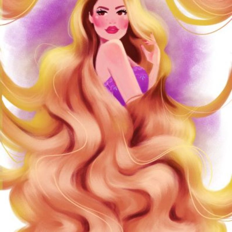 """Fue convertida en """"Rapunzel"""" Foto:Vía dylanbonner.tumblr.com/"""