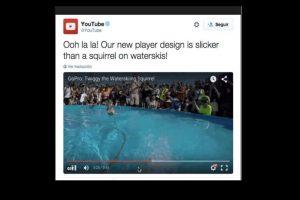 También en los enlaces que compartan se podrá observar la nueva barra Foto:Twitter/YouTube