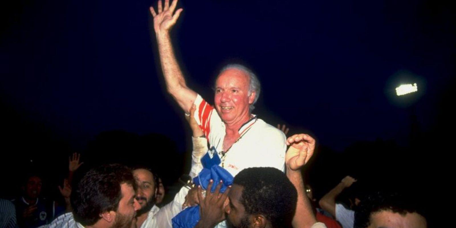 Mario Lobo Zagallo. En su etapa como futbolista estuvo presente en la Selección de Brasil que ganó los Mundiales de 1958 y 1962 Foto:Getty Images