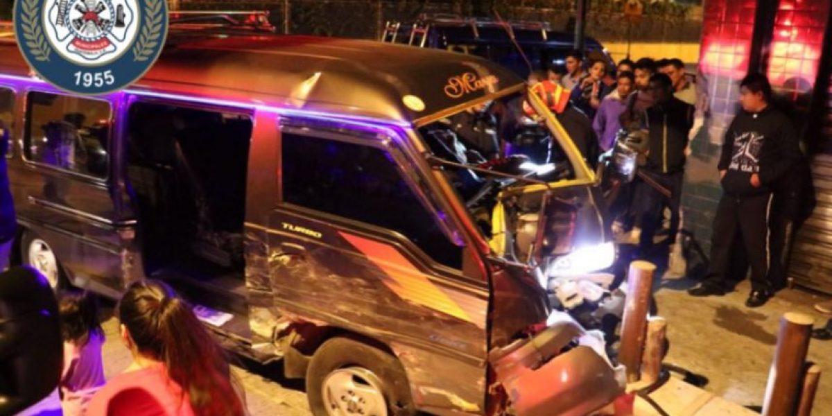 Accidentes de tránsito sobresalen entre emergencias atendidas por bomberos en Navidad