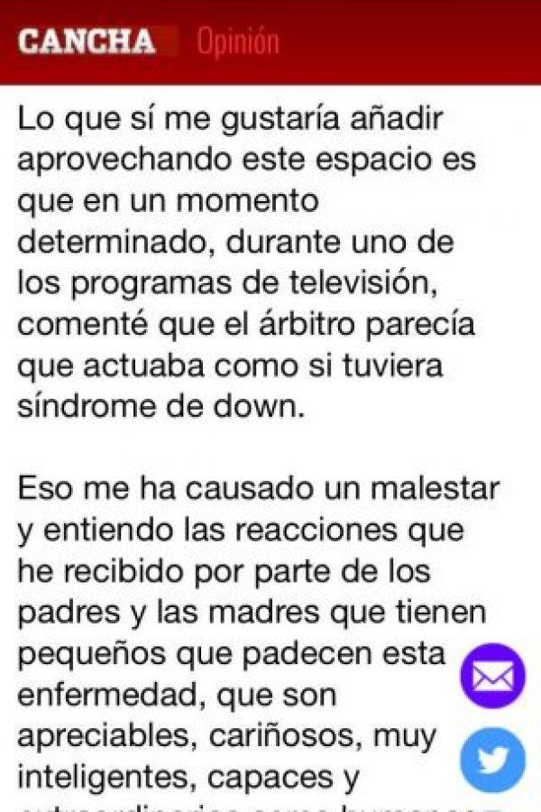 El experimentado comunicador se vio obligado a volver sobre sus pasos luego del comentario que hizo sobre el árbitro de la final de la Liga MX. Foto:Twitter de José Ramón Fernández