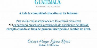 Foto:Ministerio de Educación