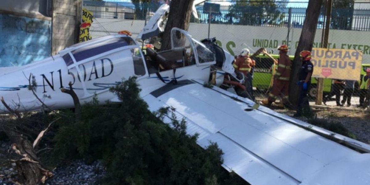 Cae avioneta en la zona 9 de la capital, reportan tres heridos
