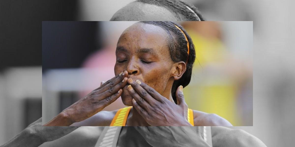 Keniana Jemina Sumgong fija récord en carrera San Silvestre, en Brasil